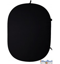 CBP-BL - Collapsible Backdrop Panel 150 × 200 cm - fold up ø66 cm - Black