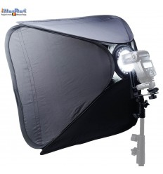 SBQS-4040-SL - Softbox (Quick Setup) - 40x40cm - With Speedlite Bracket type L with Canon/Nikon Hot-shoe