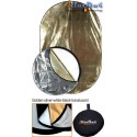 CRK-80 - ø80cm 5in1 round collapsible reflector, (White / Black / Gold / Silver / White Translucent)