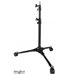 LS-70 - Light stand with casters - 70~50cm - folded 48cm - base ø50cm - 2 sections, tube ø25/19mm - 5/8' spigot
