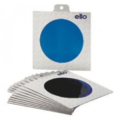E003 - Colour filter SET : 10 different coloured folic filters in frames ø220mm - elfo