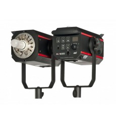 AX500 - Studio Flash - Digital and stepless 15Ws~500Ws - Cooling fan - E27 250W halogen - elfo adaptor