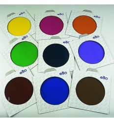 E300 - Colour filter SET : 5 different coloured folic filters in frames ø135mm