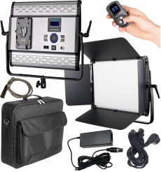 LEDP100PRODMX - LED Video & Foto Studioverlichting 100W + 100W Bi-Color, DMX-512, V-Mount batterijslot, DC 13V-19V - illuStar