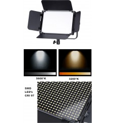 LEDP120PRODMX - LED Video & Foto Studioverlichting 120W + 120W Bi-Color, DMX-512, V-Mount batterijslot, DC 13V-19V - illuStar