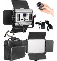 LEDP60PRODMX - LED Video & Foto Studioverlichting 60W + 60W Bi-Color, DMX-512, 2x NP-F750/960 batterijslot, DC 13V-19V - illuStar