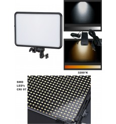LEDP-60 - LED Video & Foto Studioverlichting 60W + 60W Bi-Color, 2x NP-F750/960 batterijslot, DC 13V-17V