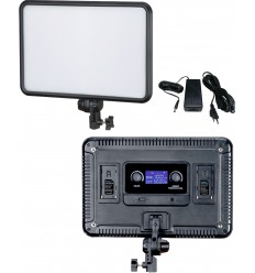LEDP-60 - LED Video & Photo Studio Lighting 60W + 60W Bi-Colour, 2x NP-F750/960 battery slot, DC 13V-17V