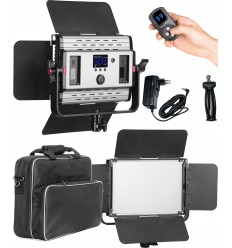 LEDP36PRO - LED Video & Foto Studioverlichting 36W + 36W Bi-Color, 2x NP-F750/960 batterijslot, DC 13V-19V - illuStar