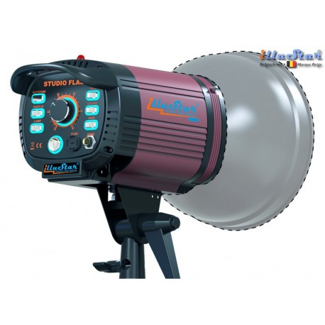FI-800A - Studio Flash - Stepless variable 800~25 Ws (Joule), E27 250W halogen - Cooling fan, Bowens-S adaptor