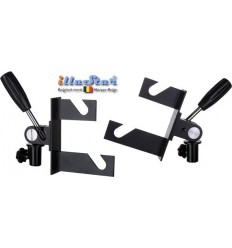 H2EX - Double Hook (two axis) for 2x Expan (background rolls) - Fits on spigot of light stand (1 pair) - illuStar