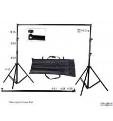 BS320 - Background support Kit- wide 310cm  (telescopic) - height 270~100cm (2x stand, crossbar, carry bag) - illuStar
