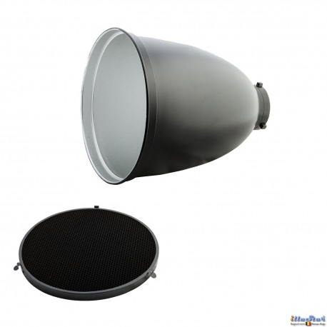 RSM-29 - Tele High Performance Reflector 45° ø29cm, length 35cm & Honeycomb Grid 45° - Bowens-S adaptor