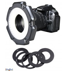 LEDR10W - 10W LED Ring Lamp for Video & Photo Camera - 5500 ° K - 1200 lm - For 6 AA batteries - illuStar