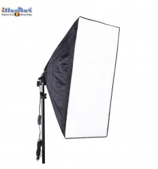 LHSB50 - Lamp Holder for E27 bulb with Easy Foldable Softbox 50x50cm - illuStar