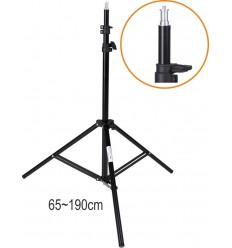 LS202 - Light stand – 195~65cm, folded 70cm, base ø88cm, 3 sections - tube ø25,3/22/19mm - illuStar
