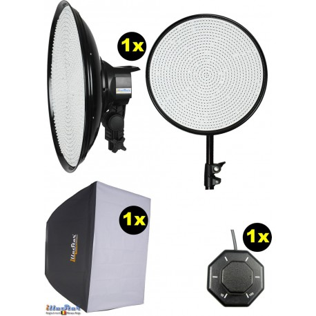 SET-LEDM-1144 - 75W LED Video & Photo Studio Lighting, 5400°K, 9000 lm, Stepless light regulation 10~100%, DC 12~19V