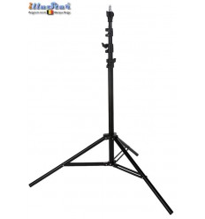 LS250A - Light stand - air cushioned - 250~80cm - folded 75cm - base ø95cm, tube ø22cm - 4 sections ø29,5/26/22,4/19mm - illuStar