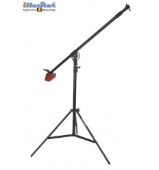 LSB-218 - Light boom set - Heavy duty - Stand air cushioned high 200~120cm, Pivot clamp, Boom arm 225~120cm with G-PESO of 4kg
