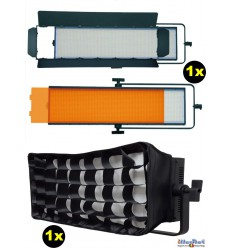 SET-LEDP-2016S-DMX - 120W LED Video & Foto Studioverlichting, 5400°K, 14400 lm, DMX-512, V-Mount batterijslot, DC 12V~24V