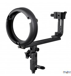 SLBT-CN-BS - Speedlite Bracket type T with Canon/Nikon Hot-shoe for Bowens-S mount