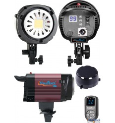 LEDB1000 - 100W LED Video & Foto Studiolamp (Bowens-S koppeling), 5500°K, 12000 lm, Digitaal - illuStar