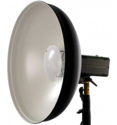 Studioflitser MIQRO-PRO485 250 Ws - Digitaal display - Pilootlamp 80W - vaste Beauty dish, Wit ø485mm - elfo