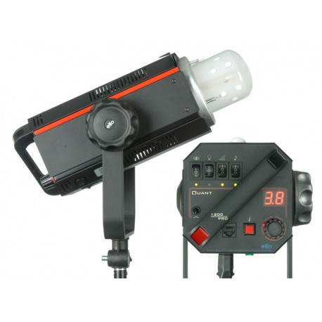 QUANT-600-PRO - Studio Flash - Digital and stepless variable 600~18 Ws (Joule) - Fan cooled - Halogen 300W, elfo adaptor