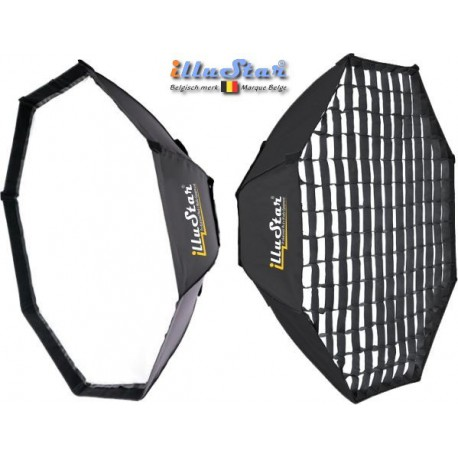 SB-120HC-A144 - Softbox 2in1 - ø120cm Octagonal with Diffuser & Honeycomb Grid - 360° rotating - foldable - carry bag