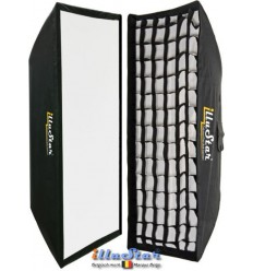 SB-2290HC-A144 - Softbox 2in1 - 22x90cm with Diffuser & Honeycomb Grid - 360° rotating - foldable - carry bag