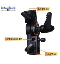 TB-U - Tilting bracket and umbrella holder, for mounting flash on stand