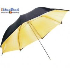 UR80G - Umbrella ø84cm - Gold & Black - illuStar