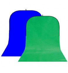 StudioKing Background Board BBT-10-07 Green/Blue 150x400 cm