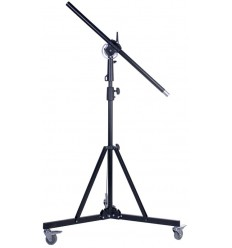 BMH185A - Light boom set - Heavy duty - Stand high 220~140cm - Pivot clamp - Boom arm 290cm with G-PESO of 5kg
